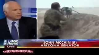 Sen John McCain Slips on Fox: Obama Didn't Want to Arm ISIS... BULL!