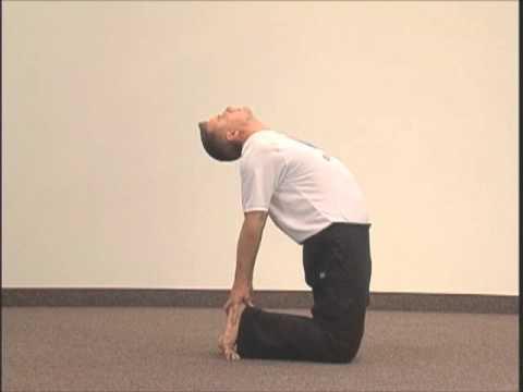 "simple yoga pose chakra 2 asana 7 ""camel""spiral up"