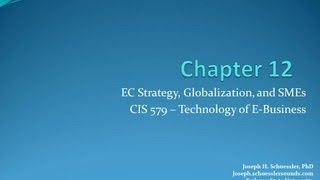 BCIS 5379: Chapter 12: E-Commerce Strategy, Globalization, and SMEs