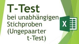 T-Test bei unabhängigen Stichproben in Excel durchführen - Daten analysieren in Excel (15)