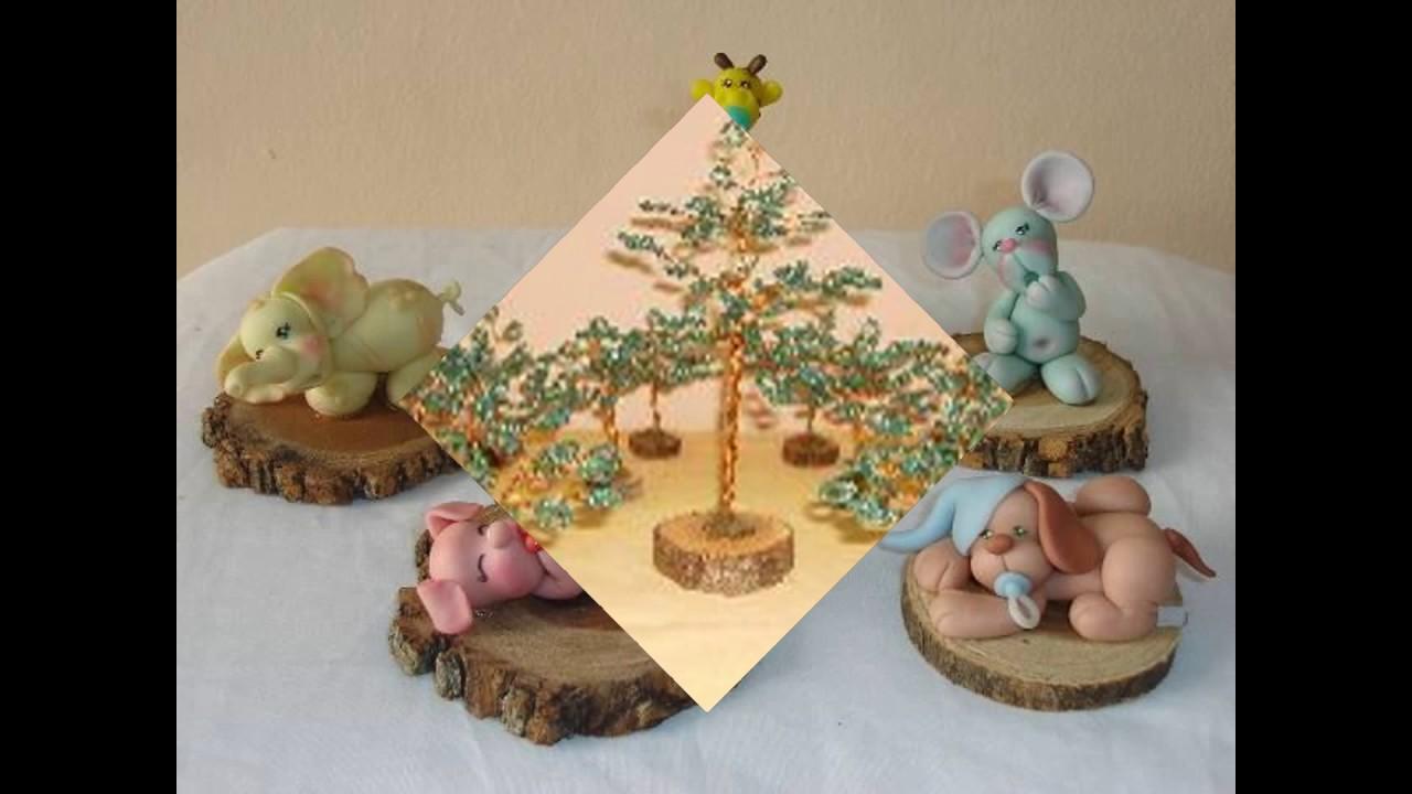 ideas para souvenirs y centros de mesa con troncos o madera