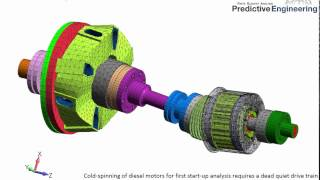 Cold Spinning of Diesel Motors to Determine Start-Up Vibration Problems