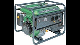 видео Бензиновый генератор Hitachi E42SB (4,2 квт)