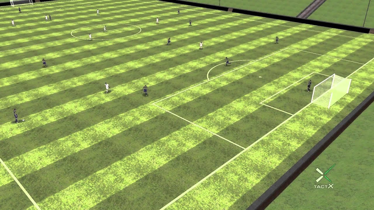 TactX 3D Soccer Drills Animation Demo
