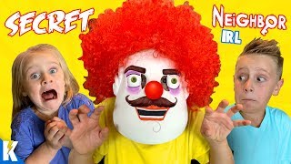 Secret Neighbor in Real Life! GIANT Hello Neighbor ESCAPE Board Game by KIDCITY