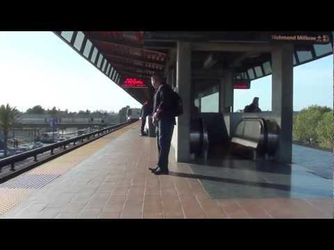 dublin/pleasanton-train-arriving-at-coliseum/oakland-airport-bart-(hd)
