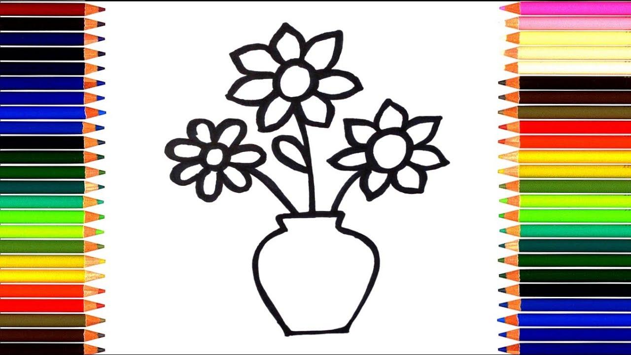 Как нарисовать цветок / мультик раскраска цветочки для ...