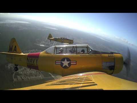 Alexander T-6 Texan flight