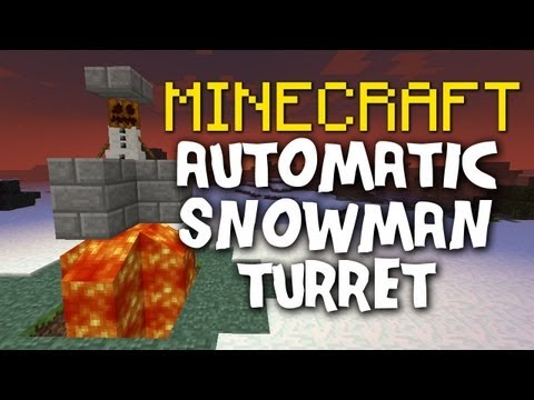 Minecraft: Snowman Auto-turret + Tutorial!