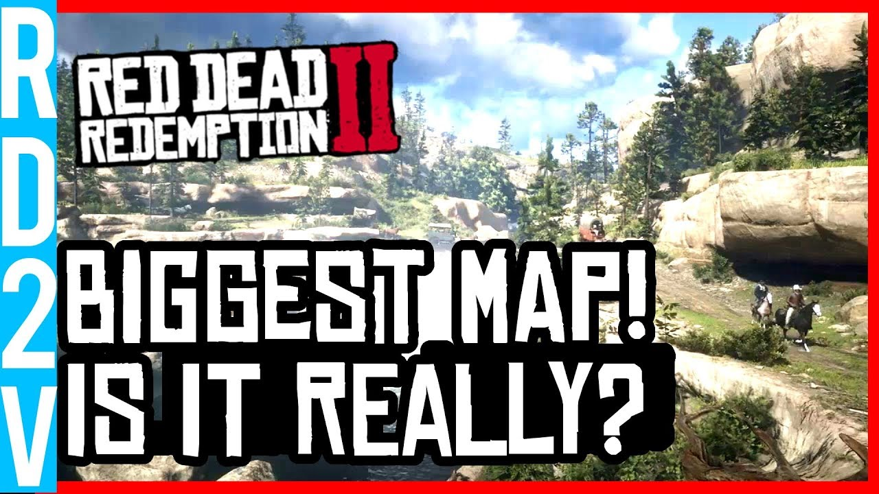 Red Dead Redemption 2 Map Rockstar S Biggest Open World Map