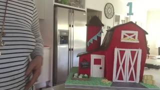 Opening Barn Door Cake by Blissfully Sweet