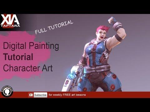 Digital painting tutorial: character art | Overwatch Zarya thumbnail
