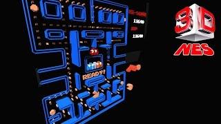 3DNes Emulator 1.0 | Pac-Man (Namco) [1080p HD / 60 FPS] | Nintendo NES