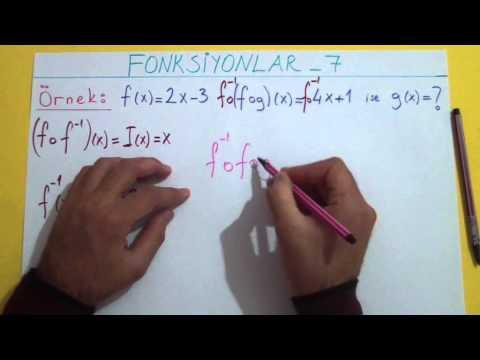 Fonksiyonlar 7 Bileşke Fonk. Örnek Çözümü Şenol Hoca Matematik