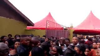 WIFE & CHILDREN OF GABRIEL SARKODIE (BRONX FIRE VICTIM)  FUNERAL IN GHANA