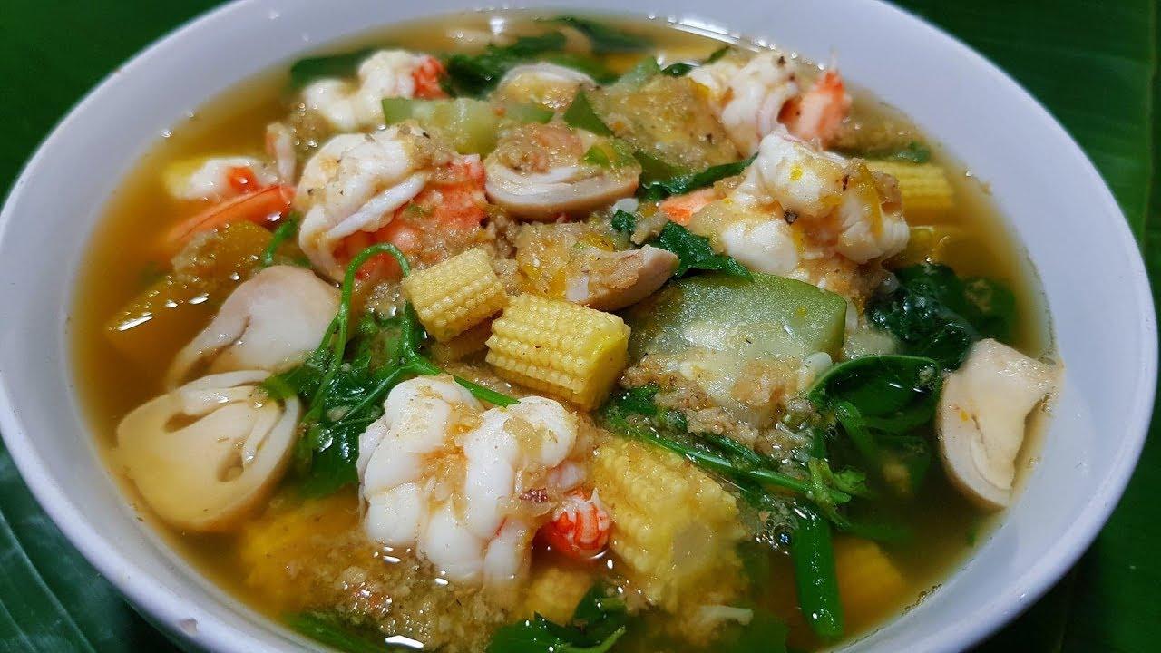 กับข้าวกับปลาโอ 539 : แกงเลียงกุ้งสด แกงเลียงหน้าฝน ซดน้ำร้อนๆคล่องคอ rainy season soup