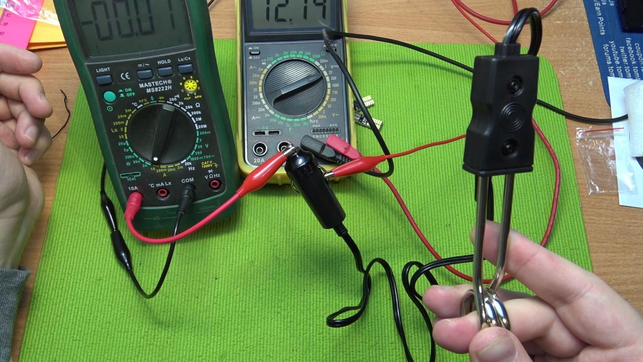 кипятильник 12 вольт от аккумулятора - YouTube