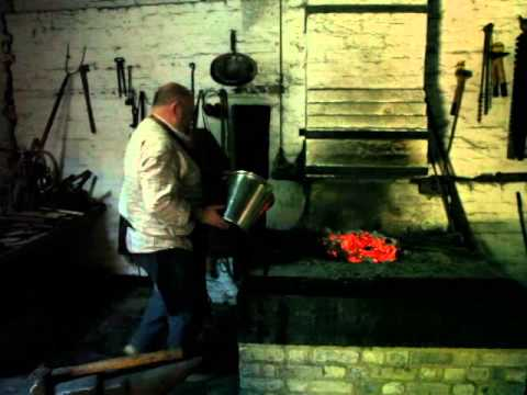 Blacksmith Working a Medieval Forge in UK - YouTube