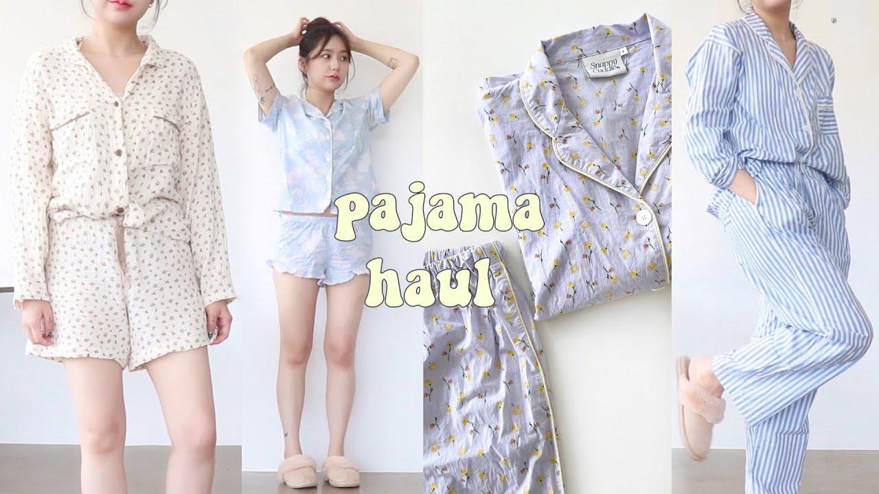 Haul. 여름맞이 구매한 파자마 하울  편하고 예쁜 잠옷 가득🤍 (파자마 선물로도 추천!) jianssi