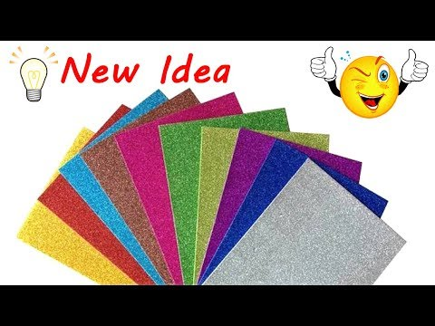 Glitter Paper New Idea 💡 DIY Glitter Craft Ideas 🏠 Best Home Decoration Ideas