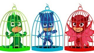 Learn Colors with Pj Masks Birdcage Toys for Kids