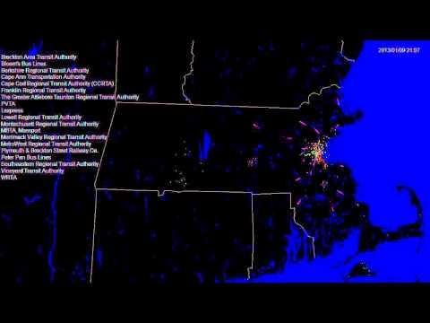 Massachusetts transit (MassDOT): one day of activity