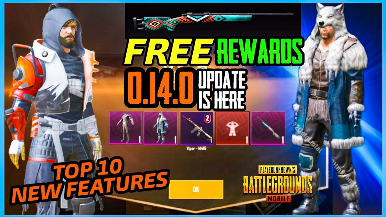0.14.0 UPDATE : GET M416 AND M24 GUNSKIN , TOP 10 NEW FEATURES AND NEW ACHIEVEMENTS ( PUBG MOBILE )