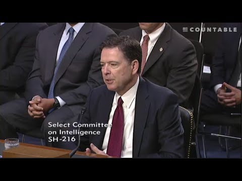 James Comey Testifies Before the Senate Intelligence Committee