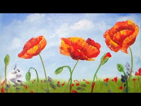 Poppies oil painting beginner tutorial youtube poppies oil painting beginner tutorial mightylinksfo