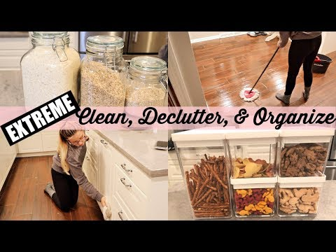 EXTREME CLEAN, ORGANIZE, & DECLUTTER WITH ME // CLEAN WITH ME 2018 BEAUTY AND THE BEASTONS