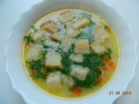 Сырный суп с сыром и курицей