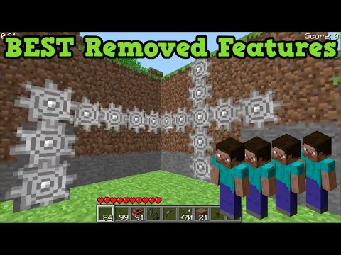 Minecraft Top 5 BEST REMOVED FEATURES