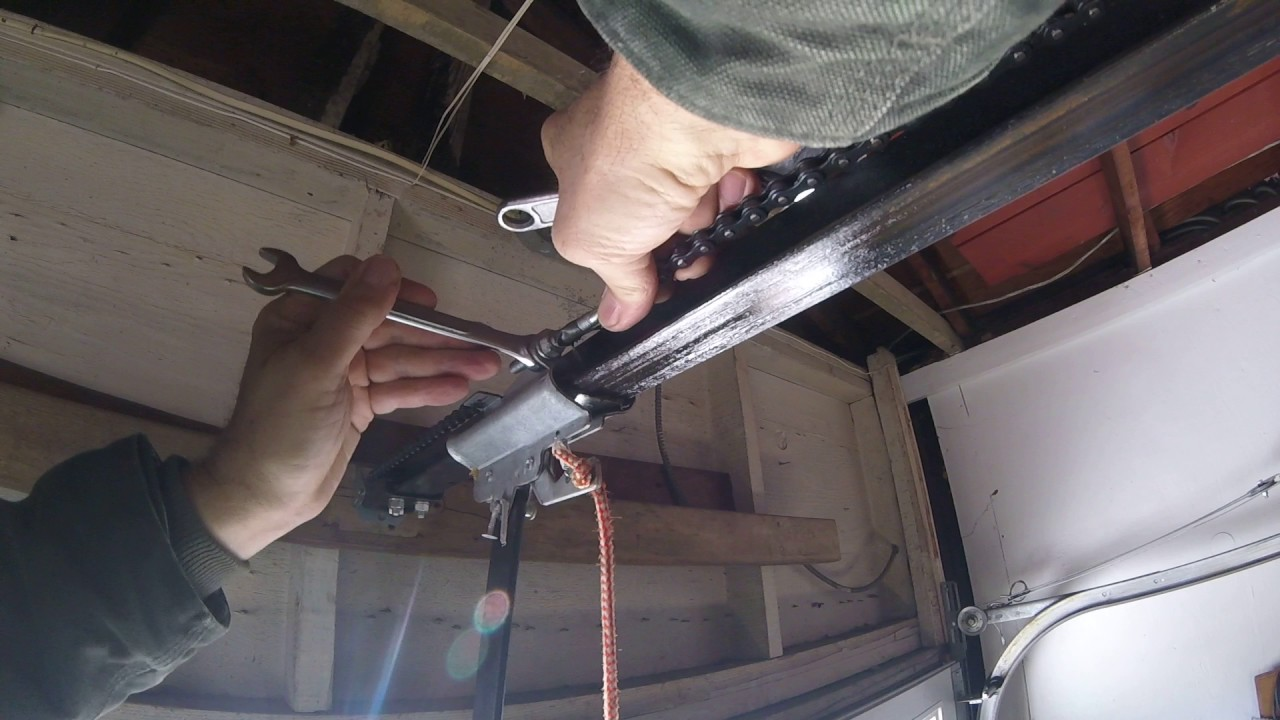 How To Adjust Chain Tension On Liftmaster Garage Door Opener | Dandk Organizer