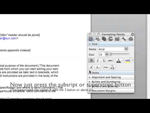 How To Format Subscripts And Superscripts In Word 2008 For Mac