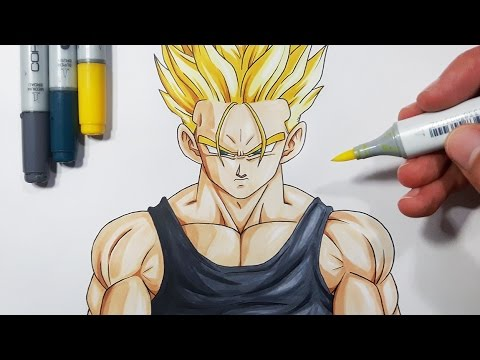 How to draw future trunks super saiyan tutorial youtube - Trunk super sayen ...