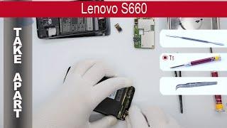 How to disassemble 📱 Lenovo S660, Take Apart, Tutorial