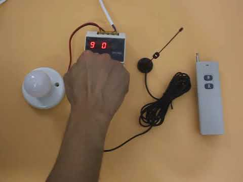 Timing Zeit Verzögerung Fernschalter funk-fernbedienung mit manuelle Schalter