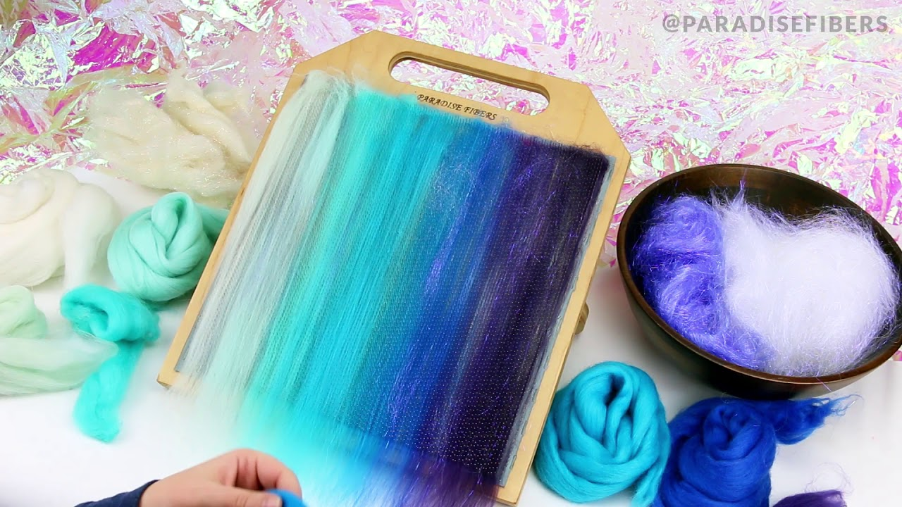 Blending Board Tutorial How To Blend Layered Rolags Textured Art Rolag or Smooth Traditional Rolags Spinning Fiber Tutorial