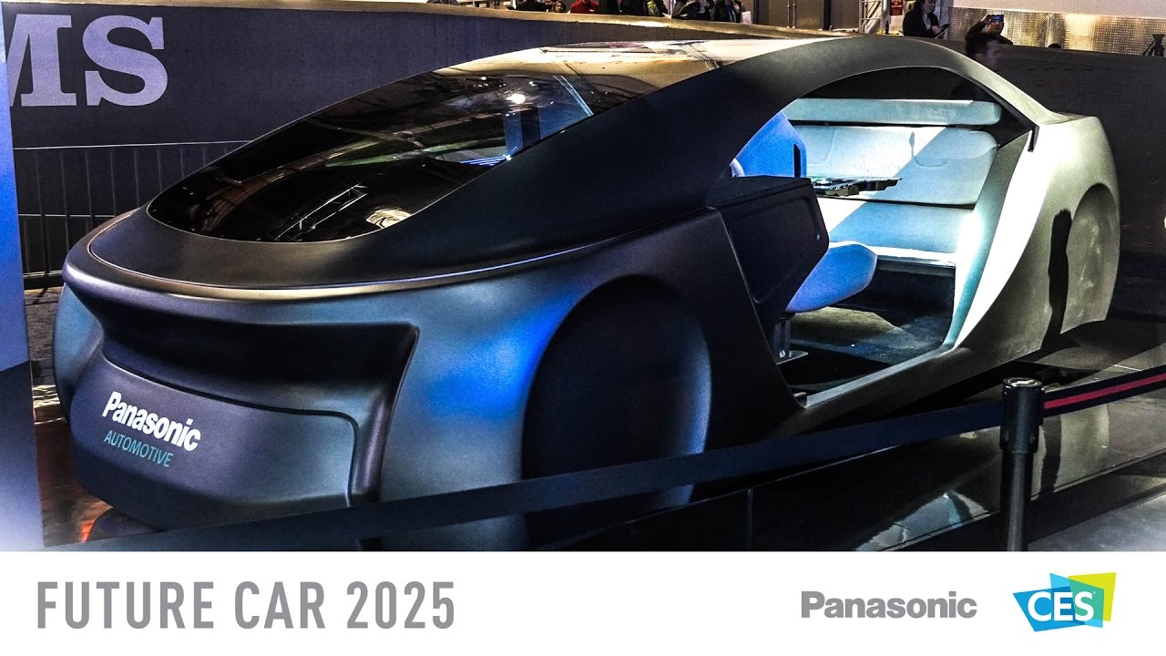 go driverless with panasonics future car 2025 at ces 2017 youtube