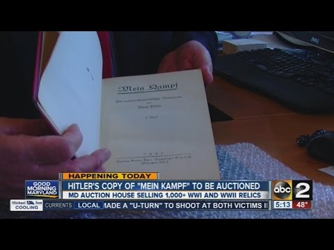 "Hitler's copy of ""Mein Kampf"" to be auctioned"