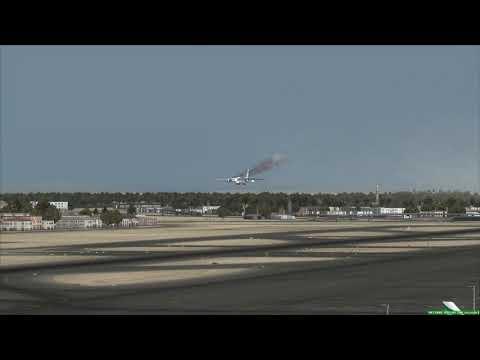 ANTONOV An-124 Engine Fire landing at Dubai