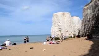 Меловые скалы пляжа Botany Bay.