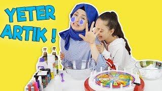 ÇARKIFELEK Ne Çıkarsa Slime Challenge | Büşra Neden Üzüldü Sizce ? Eğlenceli Slime Challenge !!