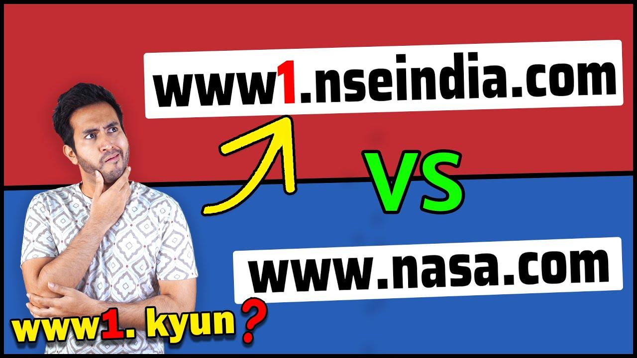 बहुत से WEBSITES WWW. की जगह WWW1. से क्यों शुरू होतें है? Why some website start with www1.