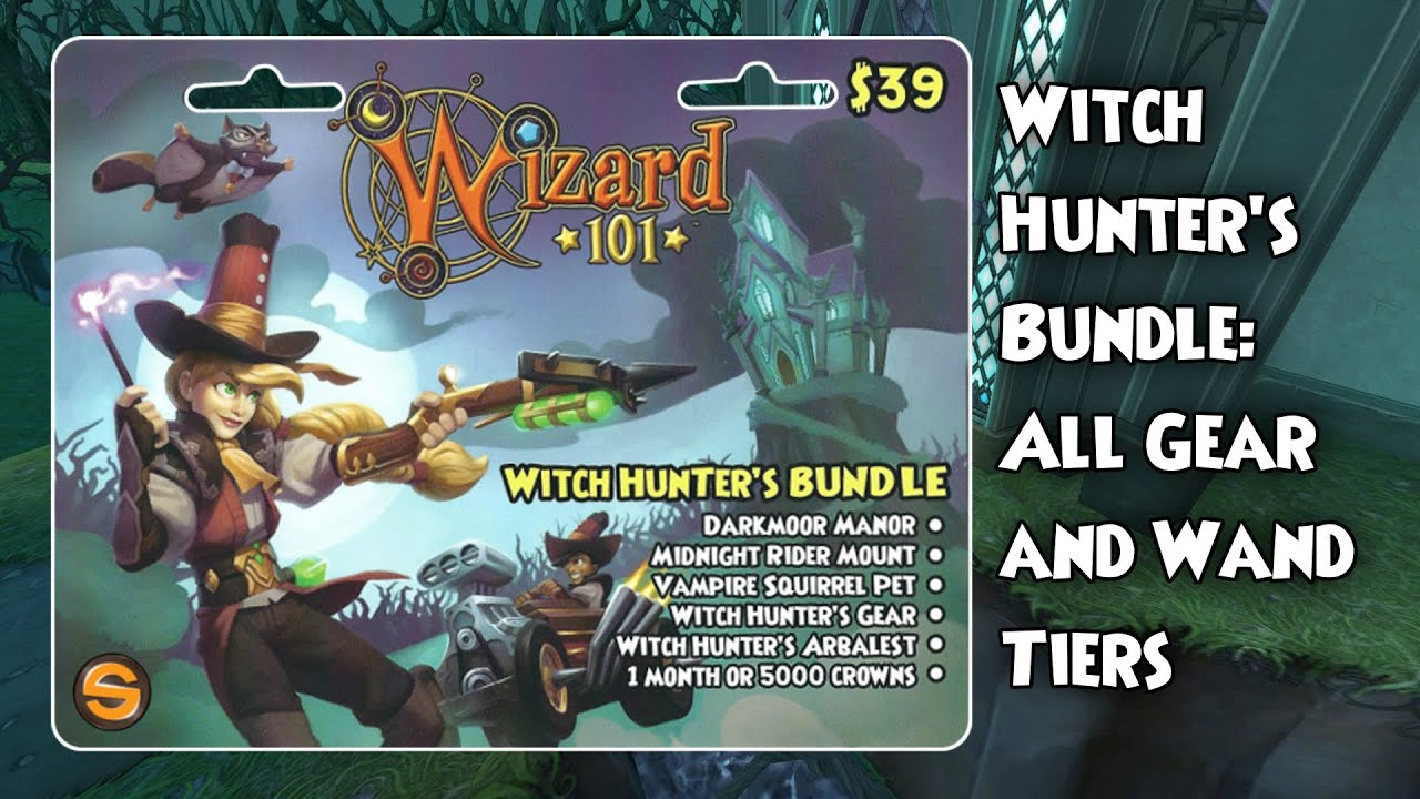 Wizard101 Witch Hunter's Bundle: All Gear and Wand Tiers
