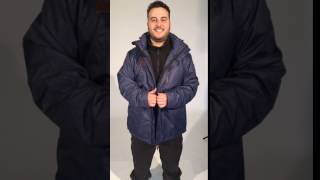 XTM Baxter Mens Plus Size Snow Jacket Blue - Boomerang Instagram