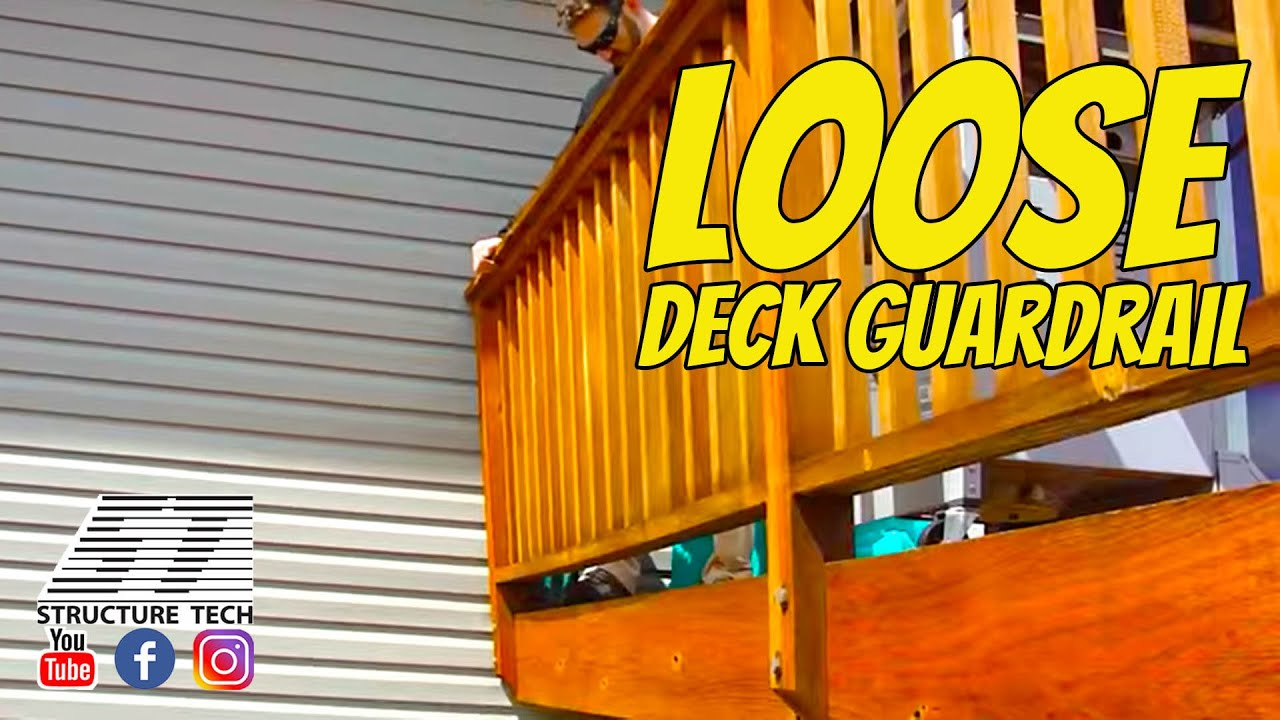 Loose Deck Guardrail Home Inspection In Rogers Mn