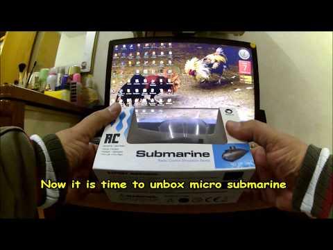 Micro submarine in  aquarium.