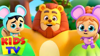 Lion and The Mouse Story | Baby Rhymes & Nursery Songs | Super Supremes | Kids Tv