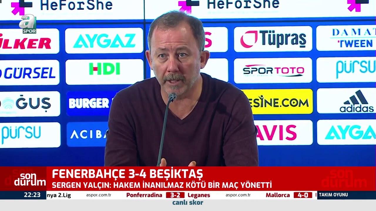 Sergen Yalçın: ''Zaferler Ancak Savaşarak Kazanılır!'' (Fenerbahçe 3 - 4 Beşiktaş) / 29.11.2020